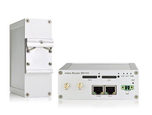 Industrie-Router mdex MX760 mit Montagesatz für die Hutschiene