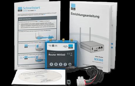 Industrie-Router mdex MX560 unboxing für Hutschiene