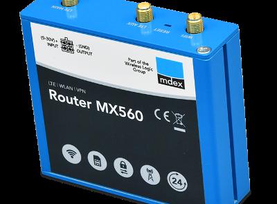 Industrie-Router mdex MX560 für Hutschiene mit Antennenanschlüssen