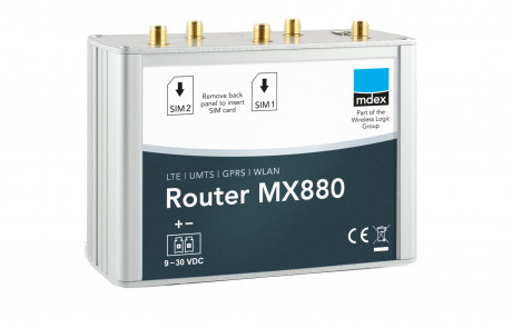 Industrie-Router mdex MX880 von vorne schräg
