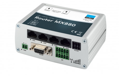 Industrie-Router mdex MX880 Gehäusefront