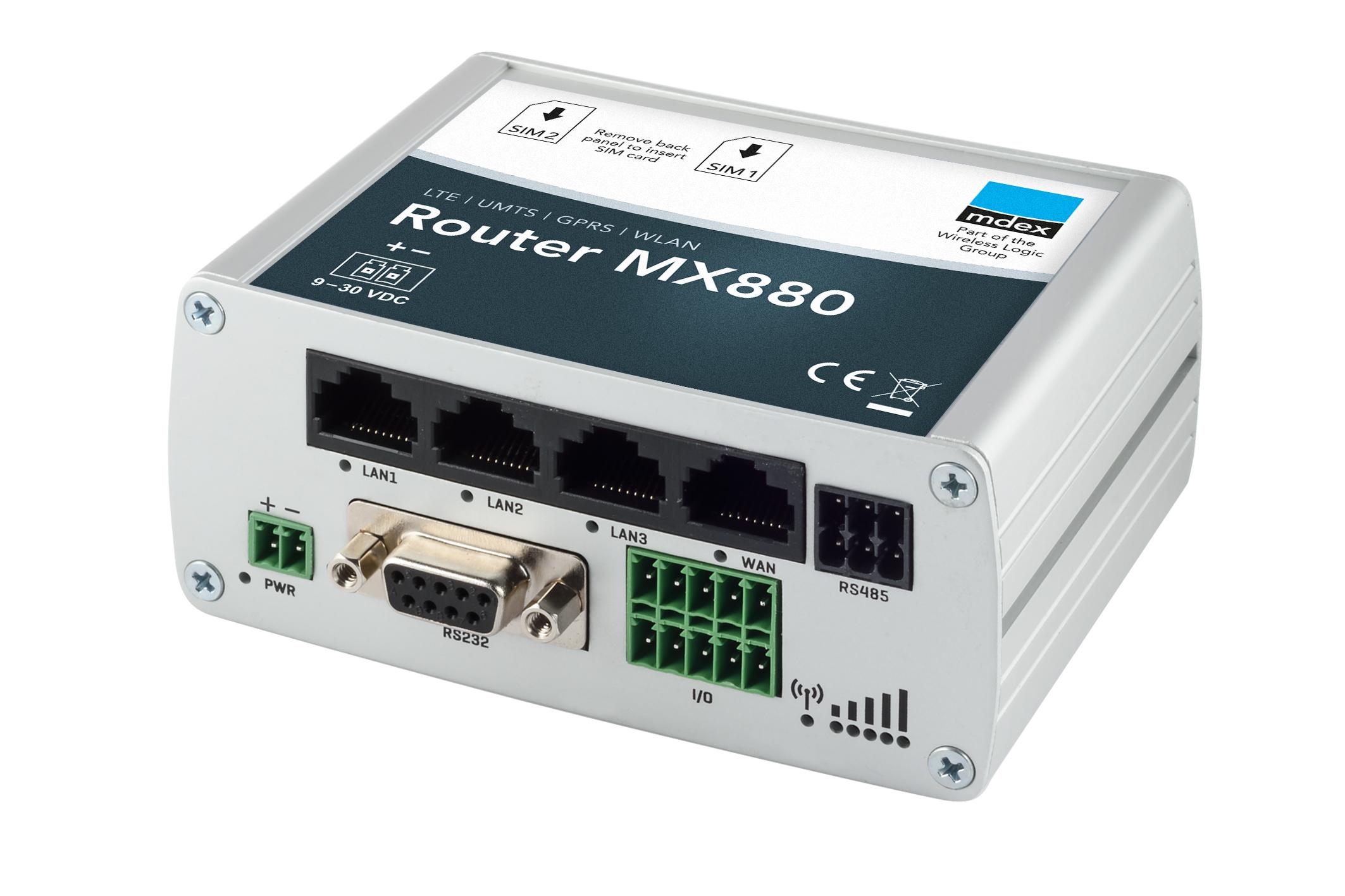 Industrie-Router mdex MX880 von schräg oben